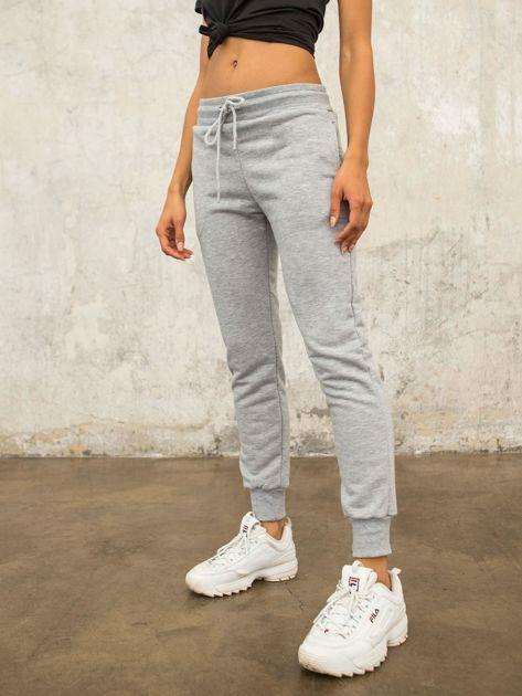FOR FITNESS Szare spodnie dresowe Citylight