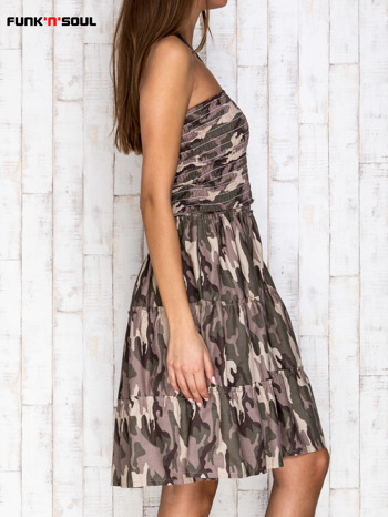 FUNK N SOUL Bawełniana sukienka moro zielona                                   zdj.                                  3