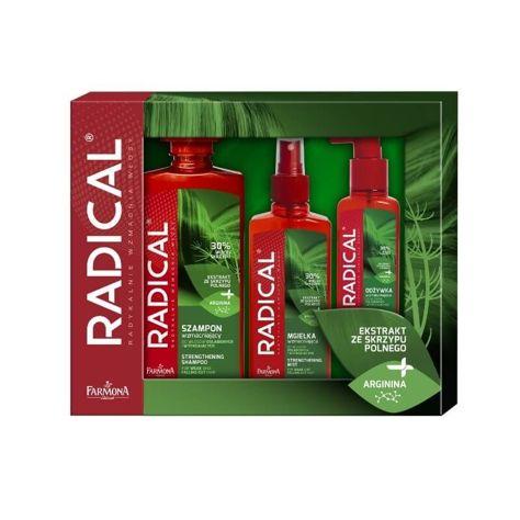 Farmona Zestaw prezentowy Radical (szampon 400 ml + odzywka 100 ml + mgiełka 200 ml)