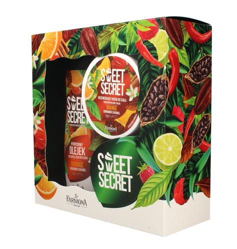 """Farmona Zestaw prezentowy Sweet Secret Orange (olejek do kąpieli 300ml+krem do ciała 200ml)"""""""