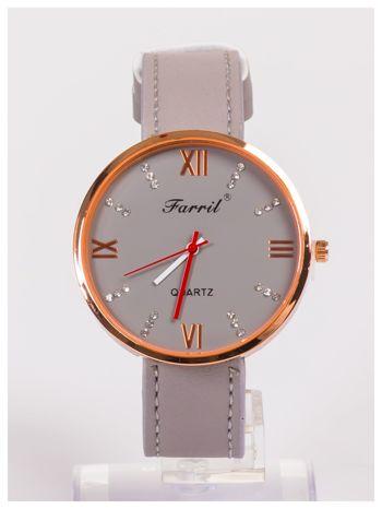 Farril -Klasyka i elegancja szary damski zegarek retro z cyrkoniami -Rose gold