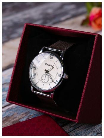 Fashion -Klasyka i elegancja srebrny damski zegarek retro                                   zdj.                                  3
