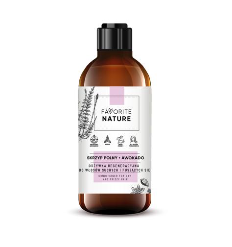 """Favorite Nature Odżywka regeneracyjna do włosów suchych i puszących się - Awokado i Skrzyp Polny   250ml"""""""