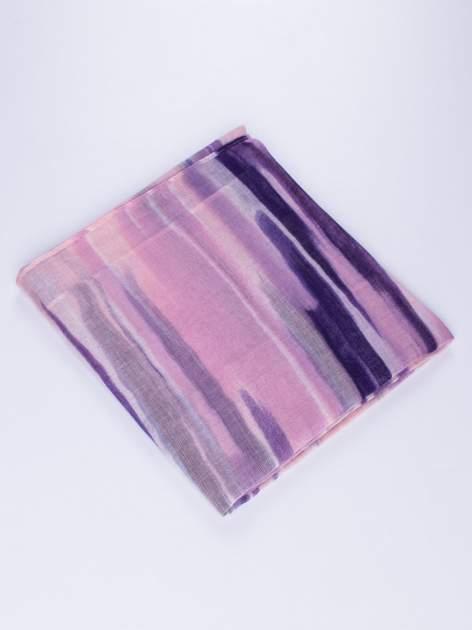 Fioletowa chustka w nieregularne paski                                  zdj.                                  2