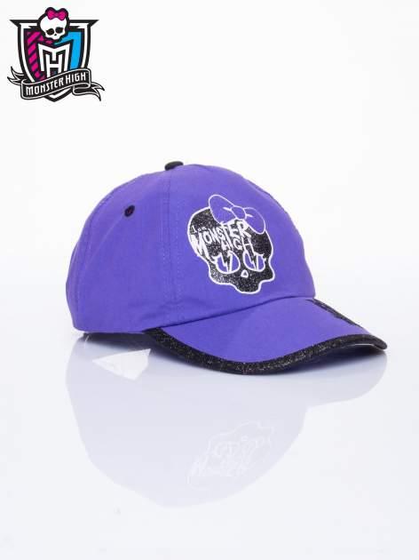Fioletowa czapka z daszkiem dla dziewczynki MONSTER HIGH                                  zdj.                                  2
