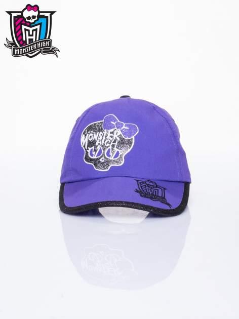 Fioletowa czapka z daszkiem dla dziewczynki MONSTER HIGH