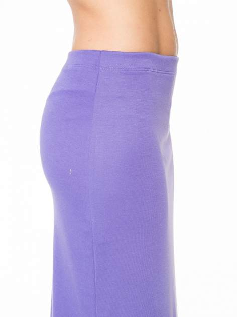 Fioletowa maxi spódnica z rozcięciem z boku                                  zdj.                                  6