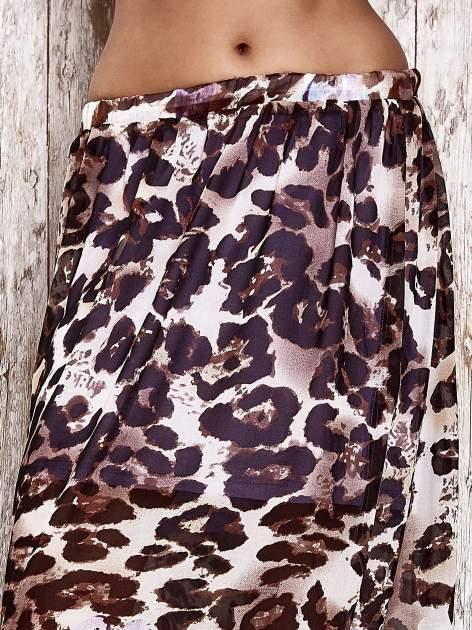 Fioletowa spódnica maxi we wzór panterkowokwiatowy                                  zdj.                                  4