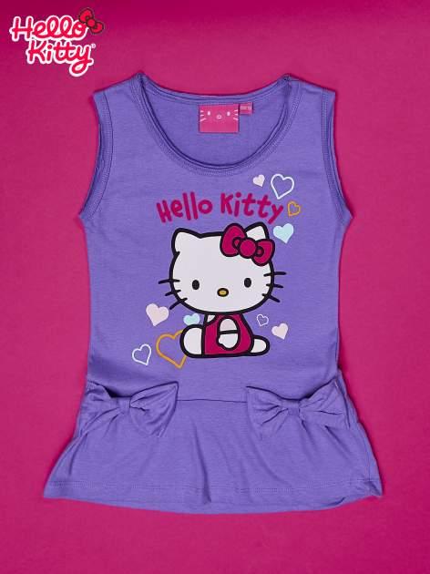 Fioletowa sukienka dla dziewczynki HELLO KITTY                                  zdj.                                  1