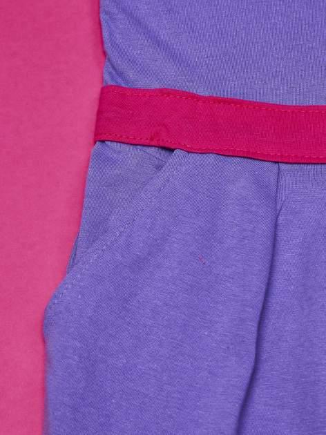 Fioletowa sukienka dla dziewczynki z kokardką i kieszonkami MY LITTLE PONY                              zdj.                              3