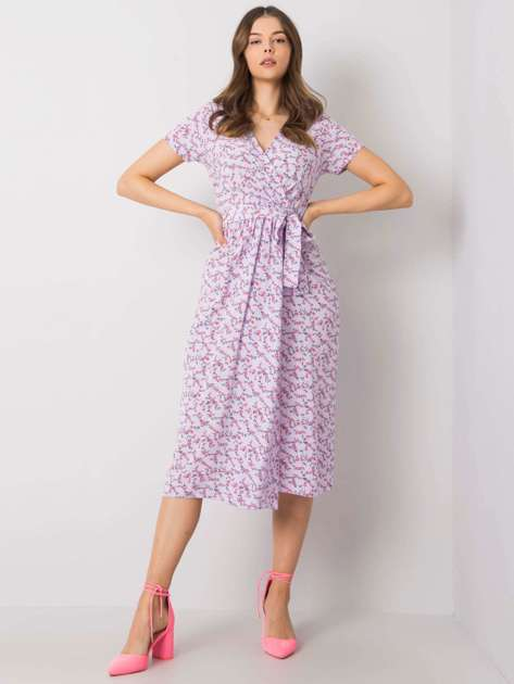 Fioletowa sukienka we wzory Iolanda