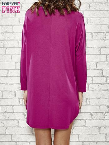 Fioletowa sukienka z napisem NEW YORK CITY                                  zdj.                                  4