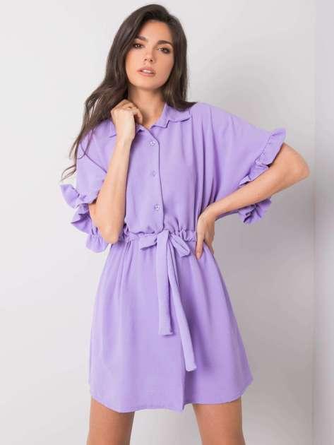 Fioletowa sukienka z wiązaniem Adelita