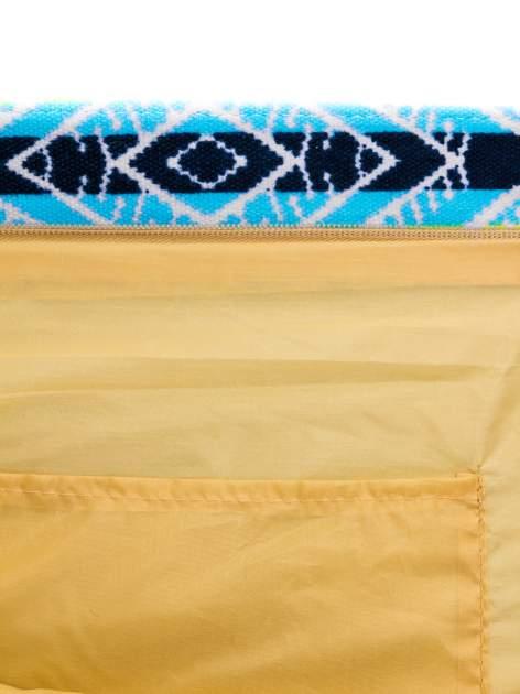 Fioletowa torba plażowa w azteckie wzory                                  zdj.                                  9