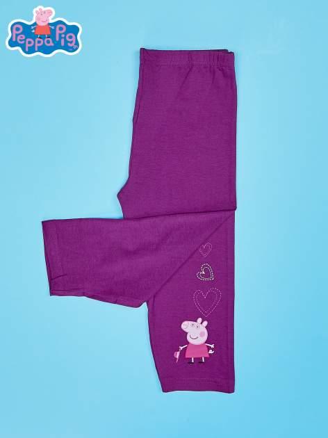 Fioletowe legginsy dla dziewczynki nadruk ŚWINKA PEPPA                                  zdj.                                  4