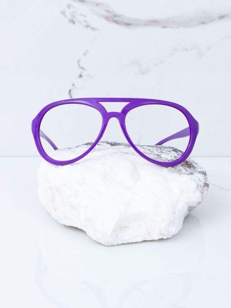 Fioletowe okulary bez szkieł                              zdj.                              1
