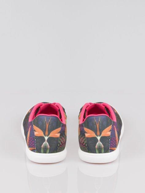 Fioletowe siateczkowe trampki w kwiaty Gardenia                                  zdj.                                  3