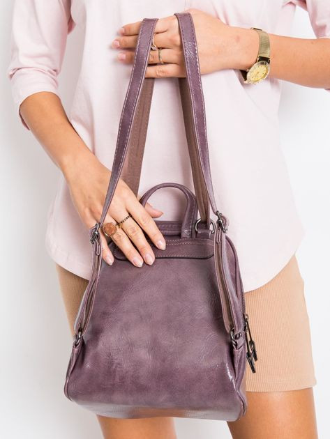 Fioletowy plecak damski ze skóry ekologicznej                              zdj.                              2