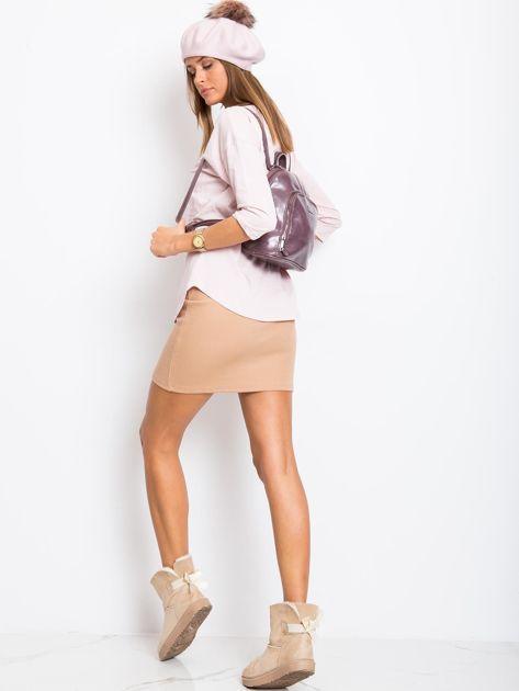 Fioletowy plecak damski ze skóry ekologicznej                              zdj.                              4
