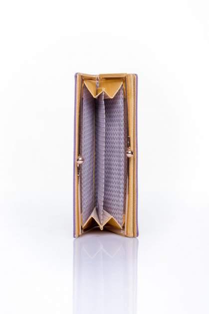 Fioletowy portfel z biglem efekt saffiano                                   zdj.                                  4