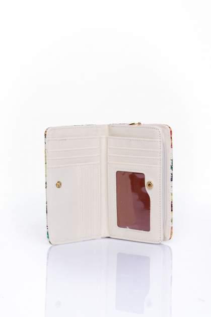 Fioletowy portfel z kwiatowym nadrukiem                                  zdj.                                  4
