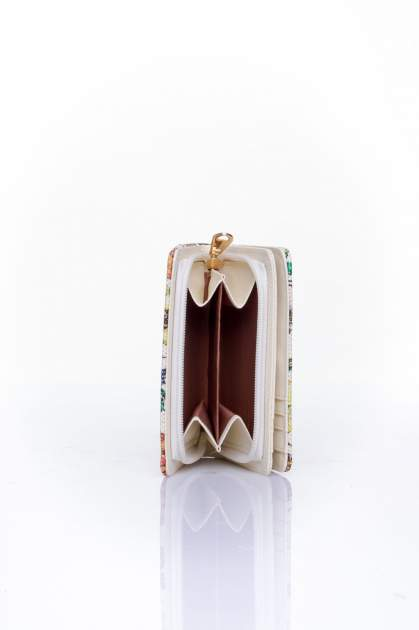 Fioletowy portfel z kwiatowym nadrukiem                                  zdj.                                  5