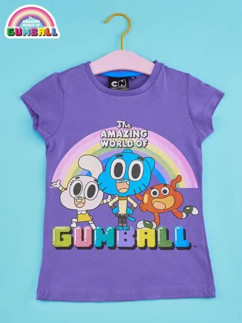 Fioletowy t-shirt chłopięcy GUMBALL                                  zdj.                                  1