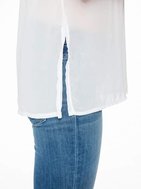 Fioletowy t-shirt z siateczkowym białym dołem                                  zdj.                                  8