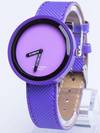 Fioletowy zegarek damski na pasku
