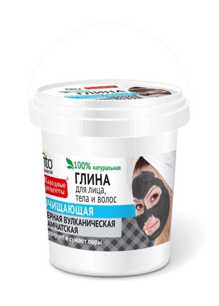 Fitocosmetics Przepisy Ludowe Glinka czarna oczyszczająca do twarzy, ciała i włosów 155 ml