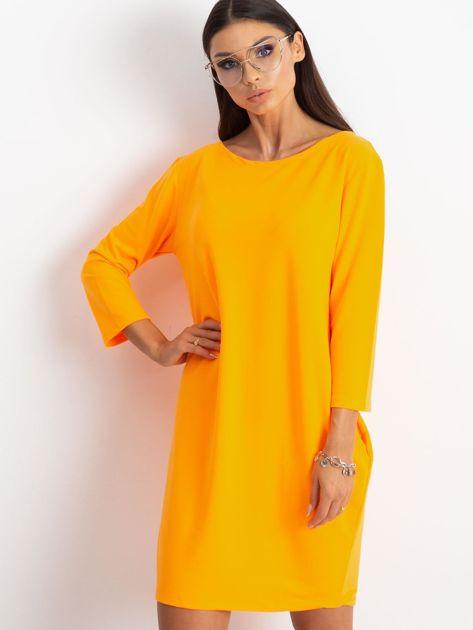 Fluo pomarańczowa sukienka Distinguished                              zdj.                              1