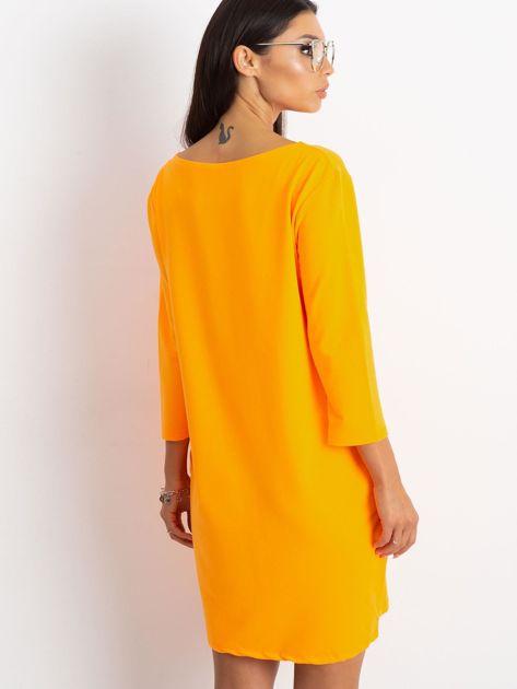 Fluo pomarańczowa sukienka Distinguished                              zdj.                              2