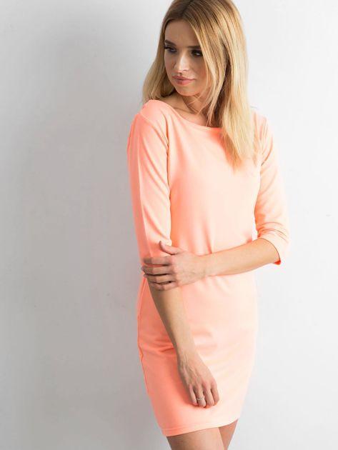 Fluo pomarańczowa sukienka z bawełny                              zdj.                              3
