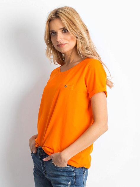Fluo pomarańczowy t-shirt Transformative                              zdj.                              3