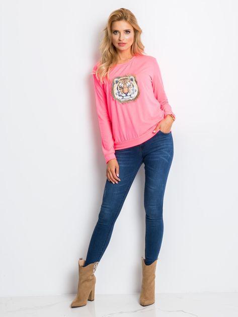 Fluo różowa bluza Palma                              zdj.                              4