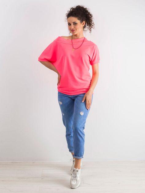 Fluo różowa bluzka Lemontree                              zdj.                              3