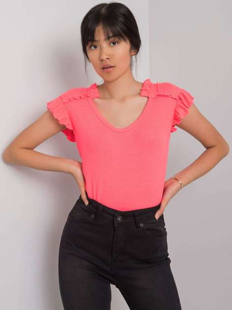 Fluo różowa bluzka Marion