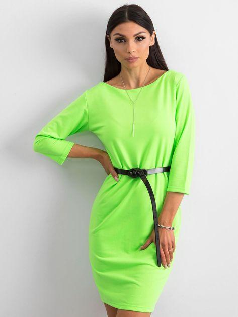 Fluo zielona sukienka z bawełny                              zdj.                              1