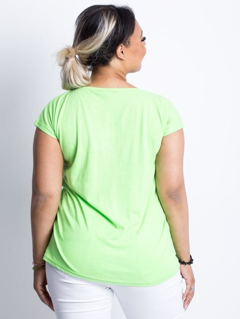 Fluo zielony t-shirt plus size Moonraker                              zdj.                              2