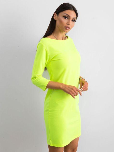 Fluo żółta sukienka z bawełny                              zdj.                              3