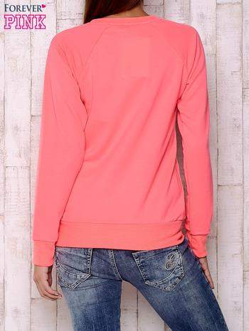 Fluoróżowa bluza z bajkowym nadrukiem                                  zdj.                                  4