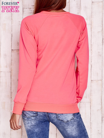 Fluoróżowa bluza z kocimi motywami                                  zdj.                                  4