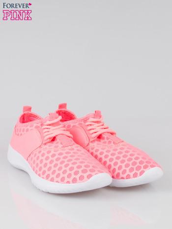 Fluoróżowe buty sportowe textile Drive Me Crazy z siateczki na podeszwie flex                                  zdj.                                  2