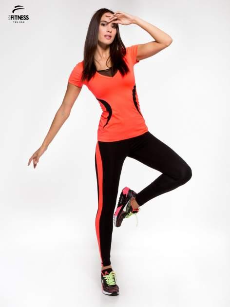 Fluoróżowy termoaktywny t-shirt sportowy z siateczką przy dekolcie ♦ Performance RUN                                  zdj.                                  5