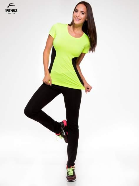 Fluozielony termoaktywny t-shirt sportowy z siateczkowymi modułami ♦ Performance RUN                                  zdj.                                  5