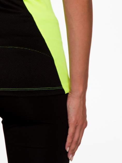 Fluozielony termoaktywny t-shirt sportowy z siateczkowymi modułami ♦ Performance RUN                                  zdj.                                  9