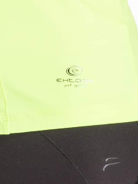Fluożółty modelujący top sportowy bokserka                                  zdj.                                  4