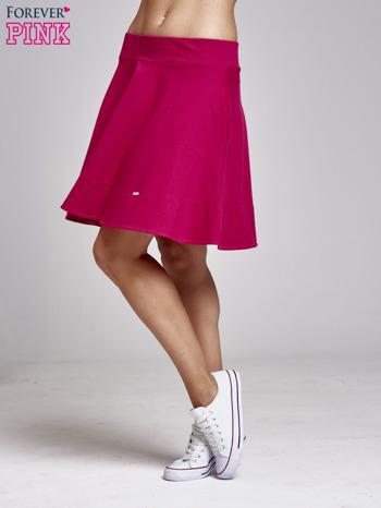 Fuksjowa spódnica dresowa skater                                  zdj.                                  3