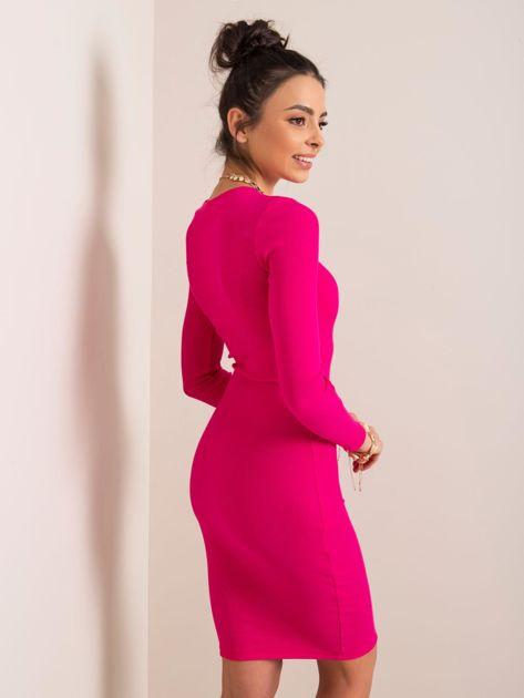 Fuksjowa sukienka Lara RUE PARIS