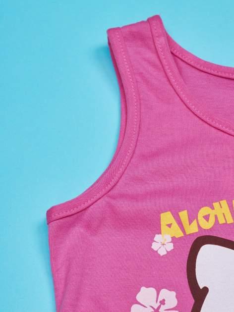Fuksjowa sukienka dla dziewczynki z kokardką HELLO KITTY                                  zdj.                                  3